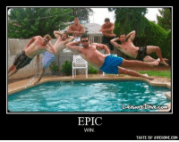 Awesome, Epic, and Super: EPIC  WIN  COM  TASTE OF AWESOME.COM Super tight. Kinda want to do this with my own pals..