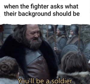 epicdndmemes:  This is dave Davidson, my human fighter. His background is soldier: epicdndmemes:  This is dave Davidson, my human fighter. His background is soldier