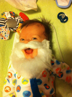 epicjohndoe:  My 2 Month Old Son Really Likes Santa's Beard: epicjohndoe:  My 2 Month Old Son Really Likes Santa's Beard