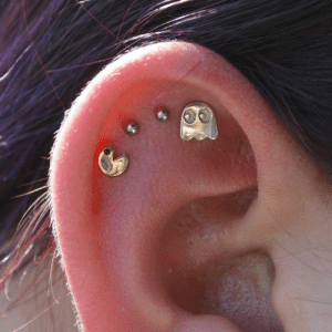 Tumblr, Blog, and Pac-Man: epicjohndoe:  Pac-Man Ear Piercing