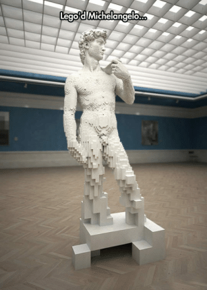 epicjohndoe:  Rebuilding A Masterpiece Using LEGO Bricks: epicjohndoe:  Rebuilding A Masterpiece Using LEGO Bricks