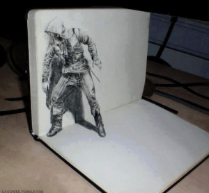 epicjohndoe:  This 3D Drawing Is Badass: epicjohndoe:  This 3D Drawing Is Badass