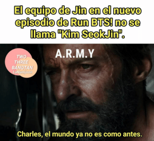 : episodio de Run BTSI nose  lama Kim SeokJinf.  A.R.M.Y  TWO  THREE  BANGTAN  LaNamjoon  Charles, el mundo ya no es como antes.