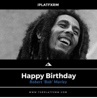 """[⚫️🎂🎉🎈Birthdays] - Legendary reggae singer, songwriter, and guitarist, Robert 'Bob' Marley, was born on this day back in 1945 MelaninMatters365⠀ •••••••••••••••••••••⠀ Feb. 6, 1945 - May 11, 1981⠀ •••••••••••••••••••••⠀ 🔥Tell us your favorite BobMarley song in the comments below 🔥⠀ •••••••••••••••••••••⠀⠀ thePLATFXRM 