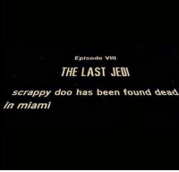<p>Theory: crash from crash and Bernstein is actually snoke</p>: Eplsode Vil  THE LAST JEDI  scrappy doo has been found dead  in miami <p>Theory: crash from crash and Bernstein is actually snoke</p>