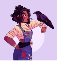 Target, Tumblr, and Blog: EPT  4 septembersart: Just a tiny girl talking to a giant bird, nothing to see here~