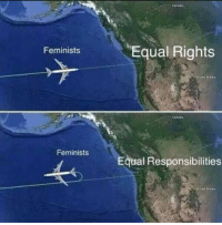 Memes, 🤖, and  Responsibilities: Equal Rights  Feminists  Feminists  Equal Responsibilities (GC)