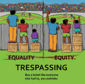 Cartoon, Time, and You: EQUAL  TRESPASSING  Buy a ticket like everyone  else had to, you assholes. Every time I see the Equality cartoon