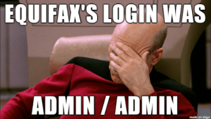 i did it to unlock chat xD: EQUIFAX'S LOGIN WAS  ADMIN/ ADMIN  made on imgur i did it to unlock chat xD