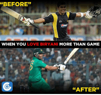 """Memes, 🤖, and Biryani: ERBEFORE""""  WHEN YOU  LOVE BIRYANI MORE THAN GAME  AFTER"""" Meanwhile, Umar Akmal failed fitness test ahead of Windies tour"""