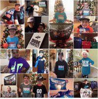Dude Perfect, Big, and Erf: ERF  DUDE  DUDE  dr  DUDE  GO  BIG  DUDE  GQ MERRY CHRISTMAS from Dude Perfect!! Shoutout to all our homies for rocking their DP swag this morning! Always remember... Toys are cool but Jesus is better! #InChristAlone 👊🏼🙇🏼