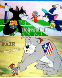 Memes, 🤖, and Madrid: ERG  ALL  F C B  A Troll Foothal  HAZIR  Troll Football  TER  BALM Atlético de Madrid Is the Ultimate Winner 😂 Follow @instatroll.soccer