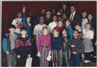Found this pic, Muhammad Ali came to visit our elementary school in the 90s: ERG Found this pic, Muhammad Ali came to visit our elementary school in the 90s
