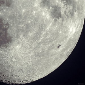 Space Station Silhouette on the Moon: Eric Holland Space Station Silhouette on the Moon