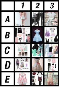 """Target, Tumblr, and Blog: ERINA  Dream haut  Pastel emolasth <p><a href=""""https://randomninjamusic.tumblr.com/post/161637109936/drop-a-request-in-my-ask-box-ive-noticed-these"""" class=""""tumblr_blog"""" target=""""_blank"""">randomninjamusic</a>:</p><blockquote> <p><b>Drop a request in my ask box!</b></p> <p>I've noticed these sorts of things on other people's blogs, and since I have been in a MAJOR art block for the past couple of months, I decided to create one of my own. </p> <p>If you would like me to draw a character in one of these outfits, just send me an ask stating the character you would like, and the outfit (ex: 1B, 2E, etc.) you would prefer.</p> <p>Can't wait to draw stuff for ya'll !</p> </blockquote>"""