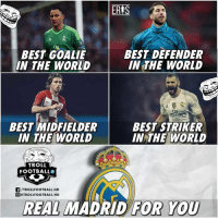 Madrid fans think they have the best of everything 👏☝️😂 Troll Navas Benzema: ERIS  BEST GOALIE  IN THE WORLD  BEST DEFENDER  IN THE WORLD  BEST MIDFIELDER  IN THE WORLD  BEST STRIKER  IN THE WORLD  TROLL  FOOTBALLO  F/TROLLFOOTBALL.HD  @@TROLLFOOTBALL.HD  REAL MADRİD  FOR YOU Madrid fans think they have the best of everything 👏☝️😂 Troll Navas Benzema