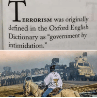 """Definately: ERRORISM was originally  defined in the Oxford English  Dictionary as """"government by  intimidation."""