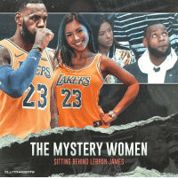Everything you need to know about the viral mystery woman (@melodyfitness_)...sitting behind LeBron James. 😲: ERS  23 23  THE MYSTERY WOMEN  SITTING BEHIND LEBRON JAMES Everything you need to know about the viral mystery woman (@melodyfitness_)...sitting behind LeBron James. 😲