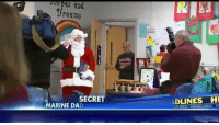 Memes, Elementary, and Marines: es an  Dreams  SECRET  MARINE DAD  ADLINES HI  H  DUNES HEADLINES When Jackson Rescott asked St. Nick for his Marine father for Christmas, the Virginia elementary schooler had no idea Santa was hiding a jaw-dropping surprise.