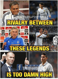 Memes, Emirates, and 🤖: es  bwin  LLF OTBALL  RIVALRY BETWEEN  Emirates  Emirates  Win  rales  THESE LEGENDS  R E A L  Footbal  IS TOO DAMN HIGH YKWIM 😂😂.....Tag a Madrid Fan