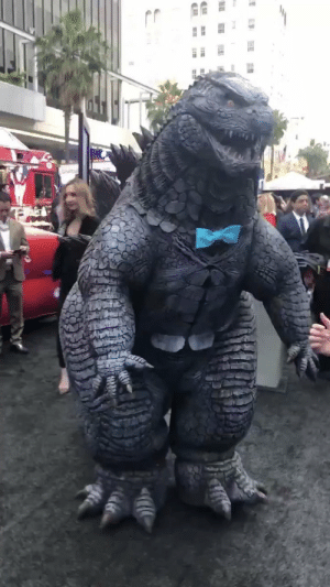 lankybrunettepartdeux:  I need everyone to see this Dapper Godzilla at the King of the Monsters premiere bc the entire thing was made by the INCREDIBLY talented @biliouskaijuMuch love to them and this Zilla with a Bowtie: ES lankybrunettepartdeux:  I need everyone to see this Dapper Godzilla at the King of the Monsters premiere bc the entire thing was made by the INCREDIBLY talented @biliouskaijuMuch love to them and this Zilla with a Bowtie