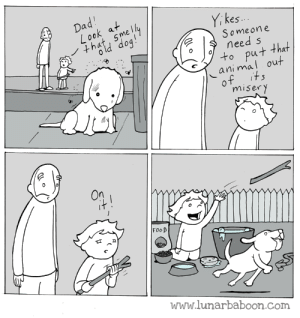omg-images:  Euthanize: es.  Someon e  need s  ut that  al out  ani m  miser y  FooD  www.lunarbaboon.com omg-images:  Euthanize