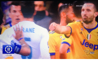 """Memes, Real Madrid, and The Real: ESCLUSIVAMEDIASE  ANE  eep  HD  MEDİASET  2 min Chiellini asked the Real Madrid players: """"How much did you pay for the penalty?"""" https://t.co/hF8iEcKn0X"""