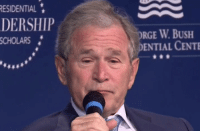 "George W. Bush, Tumblr, and Jimmy Kimmel: ESIDENTIAL  DERSHIP  RGE W.BUSH  ENTIAL CENTE  SCHOLARS <p><a href=""http://memehumor.tumblr.com/post/157943039011/george-w-bush-and-jimmy-kimmel-sketched-each"" class=""tumblr_blog"">memehumor</a>:</p>  <blockquote><p>George W. Bush and Jimmy Kimmel sketched each other and it was strangely romantic.</p></blockquote>"
