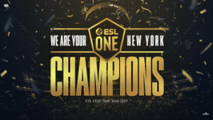 Future, Memes, and New York: ESL  WE ARE VOURONE NEW YORK  CHAMPIONS  CNT  ESL ONE New York 2019 We are your #ESLOne New York 2019 Champions!   We couldn't be more proud of the team, and we can't wait for what the future has to hold with this amazing group of people! #BleedBlue https://t.co/ym0DAvCAA7