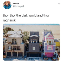 Memes, Marvel, and Thor: esme  @thorqiul  thor, thor the dark world and thor  ragnarok  347 Why does this fit so perfectly thor thorthedarkworld thorragnarok marvel