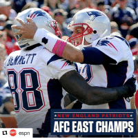 Repost @espn ・・・ Eight is great! The Patriots are AFC East champs for the eighth time in a row, clinching that and a first-round bye with 16-3 win over the Broncos.: espn  NEW ENG LAN D PATRIOTS  AFC EAST CHAMPS Repost @espn ・・・ Eight is great! The Patriots are AFC East champs for the eighth time in a row, clinching that and a first-round bye with 16-3 win over the Broncos.