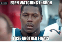 :'(: ESPN WATCHING  LeBRON  CBS  @NFL MEMES  LOSE ANOTHER FINALS :'(