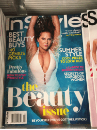 """lily rose: ess  MAY 2017  """"I was always  really confident""""  AMY SCHUMER  BEST  BEAUTY  BUYS  140  GENIUS  PICKS  9  SUMMER  STYLE  COOL PIECES  TO LOOK HOT  Pretty  Fabulous  LILY-ROSE TO  BROOKE SHIELDS  SECRETS OF  GORGEOUS  WOMEN  HOW TO OWN  YOUR STYLE  he  issuc  6.99US  05)  BE YOURSELF(WE'VE GOT THE LIPSTICK)  0 992°10652 3  INSTYLE COM"""