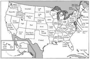 communistbakery:  shaunbwilson:  A map of the United States with each state's name replaced with its etymological root translated into English. (via imkharn)  I connect with the root of Iowa on a spiritual level : Estate of  the Genius  New Home  Farm District.  of the Woods  Green  Mountain  North  Ally  Mountain  Cloudy  Water  None,  Idaho is a  made up word  for a practical  joke  Beautiful  Mainland  New  Yew  It Lies  South  Large  Lake  Red  Ally  Big River  Flat  Tree Estate  Great Hills  Head's  Asleep  Red Island  Flattened  Water  Woods  Land  Snow  Covered  Large  Creek  of the  Ordinary  Long Tidal  River  Speaker River  People  High  West  Virgin  Country  Land  of the  Red  Virgin  Country  Dugout  Canoe  Wind  Spear Island  Female  Rulers  At the Field  North  Husband  Beloved Lord of  Winding River  Red  People  Good  Oak  People  of the  South  Husband,  Land  New Navel  of the Moon  War  Wind  Earth  Plant  Great  River Cutters Worker  Friend  Famous  War  Place  Flowery  Easter  of the  Gods  Mainland  Virgin Islands  Rich Harbor communistbakery:  shaunbwilson:  A map of the United States with each state's name replaced with its etymological root translated into English. (via imkharn)  I connect with the root of Iowa on a spiritual level