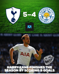 Incredible 😂: ESTER  5-4  AIA  HARRY KANE FINISHES THE  SEASON BY SCORING 9 GOALS Incredible 😂