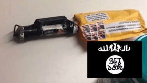 git 'er done' meme, not #isis flag, found on suspected mail bombs ...: ET  RO03 ASSEMAN LTZ  777 S SS CORPORATE PARKWAY  SA OAS 3325 git 'er done' meme, not #isis flag, found on suspected mail bombs ...