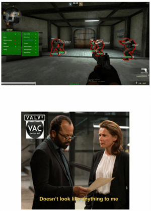 Club, Tumblr, and Blog: ET00  VALVE  VAC  Doesn't look like anything to me laughoutloud-club:  How Valve deals with cheaters