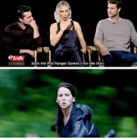 Run girl run they trying to catch you 😂  -Katniss: etalk  EXTENDED  So in the first Hunger Games run ike this Run girl run they trying to catch you 😂  -Katniss