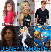 (Yes I know Disney owns Marvel) When the New Warriors cast was announced, I noticed we had a few actors-actresses who have come from starring on Disney shows to being in the MCU. Zendaya (Shake It Up) now plays Michelle in Spiderman Homecoming, Olivia Holt (Kickin' It) will play Dagger in the Cloak & Dagger series, & Calum Worthy (Austin & Ally) has been cast as Speedball. I just it was something interesting worth noting. 😅 oliviaholt kickinit cloakanddagger dagger zendaya spiderman spidermanhomecoming peterparker tomholland shakeitup calumworthy austinandally marvel avengers marvelstudios: etime  lec  OLIVIACALUM  ZENDAYA HOLTWTHY  Li  DISNEY TOMARVE (Yes I know Disney owns Marvel) When the New Warriors cast was announced, I noticed we had a few actors-actresses who have come from starring on Disney shows to being in the MCU. Zendaya (Shake It Up) now plays Michelle in Spiderman Homecoming, Olivia Holt (Kickin' It) will play Dagger in the Cloak & Dagger series, & Calum Worthy (Austin & Ally) has been cast as Speedball. I just it was something interesting worth noting. 😅 oliviaholt kickinit cloakanddagger dagger zendaya spiderman spidermanhomecoming peterparker tomholland shakeitup calumworthy austinandally marvel avengers marvelstudios