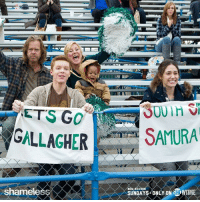 CONGRATS Chicago Cubs on breaking your curse!!! Now, can ya spread the luck to your Chicago neighbors? We could use it. #TeamGallagher #WorldSeries: ETS GO  GALLAGHER  shameless  SAMURA  NEN SEASON  SUNDAYS ONLY ON SH CONGRATS Chicago Cubs on breaking your curse!!! Now, can ya spread the luck to your Chicago neighbors? We could use it. #TeamGallagher #WorldSeries