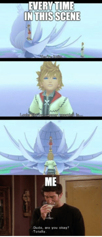 Ross covers it greatly. Friends and KH fans unite! ~Xigbar: EUERYTIME  IN THIS SCENE  Over  ME  Dude, are you okay?  Totally Ross covers it greatly. Friends and KH fans unite! ~Xigbar