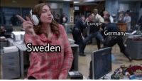 Europe, Sweden, and Ww2: Europe  Germanv  Sweden WW2 (1943 colorized)