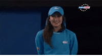 Ball girl removes bug from tennis court. And then sees the slomotion replay: EUROSPORT Ball girl removes bug from tennis court. And then sees the slomotion replay