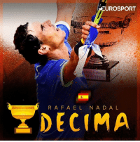 Memes, French, and 🤖: EUROSPORT  GARROS  RAF A E L N A D A L  DECIMA Congrats to Rafa Nadal  for La Décima at the French Open.🏆  Incredible achievement!