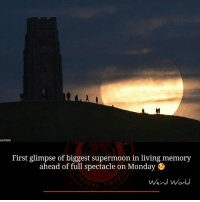 Memes, Mondays, and Monday: EUTERS  First glimpse of biggest supermoon in living memory  ahead of full spectacle on Monday B  Weird World