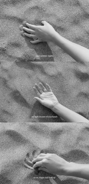 evaabe: Most summer night are light dreams of your hand on my thighs and fresh air  By Eva Abeling : evaabe: Most summer night are light dreams of your hand on my thighs and fresh air  By Eva Abeling