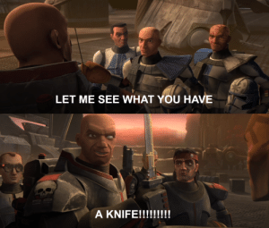 evaan-verlaine:  Captain Rex, internally: No…   Is that Rambo in the back: evaan-verlaine:  Captain Rex, internally: No…   Is that Rambo in the back