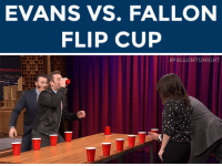 """Target, youtube.com, and Watch: EVANS VS. FALLON  FLIP CUP   <p>Talk about sibling rivalry: it's <a href=""""https://www.youtube.com/watch?v=5Ip1XDMVX5c&amp;list=UU8-Th83bH_thdKZDJCrn88g&amp;index=4"""" target=""""_blank"""">an Evans vs. Fallon Flip Cup face-off!</a></p>"""