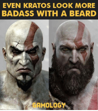 Beard, Video Games, and Badass: EVEN KRATOS LOOK MORE  BADASS WITH A BEARD The truth has been spoken.