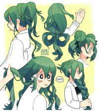 evercelle:practicing drawing hair with my best girl tsuyu… i feel like she'd let class A mates play with her hair when they kick it in the dorms :: EVER  CELLE  Gero evercelle:practicing drawing hair with my best girl tsuyu… i feel like she'd let class A mates play with her hair when they kick it in the dorms :